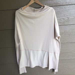 Free People tan Ribbed Off The Shoulder tunic top